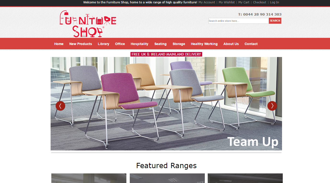 Welcome to the furniture shop work rest play for Home furniture online store