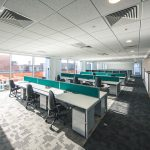 Work rest play interiors installed contemporary office furniture into the new Cecil Ward Building